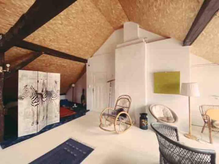 Ausgebautes Dachgeschoss mit viel Raum und Fläche