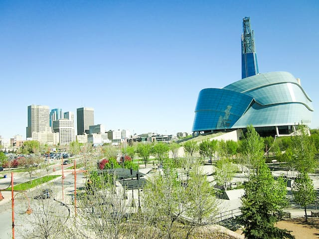 Welcome to Winnipeg! - The Canadian Human Rights Musem a 16 min walk