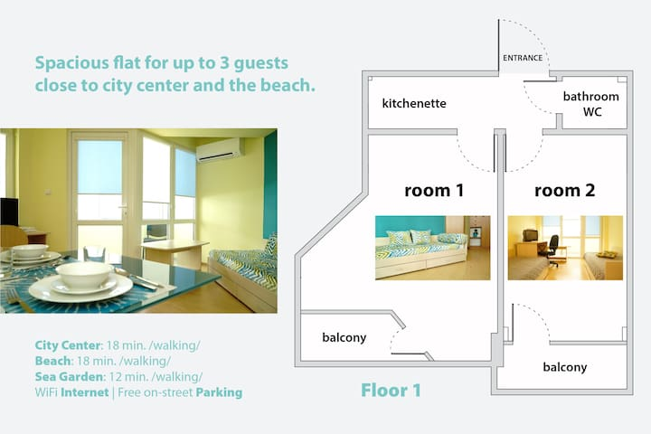 Apartment To The Sea (good for work & city trips)