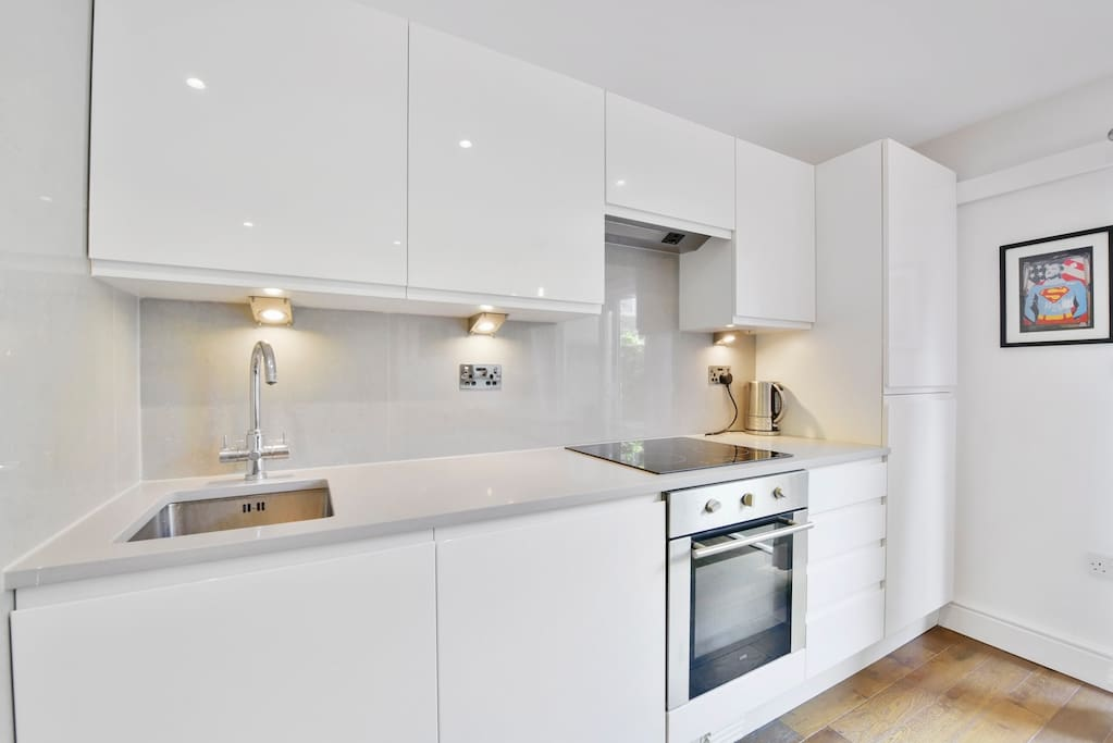 Fitted Kitchen with Marble Tops