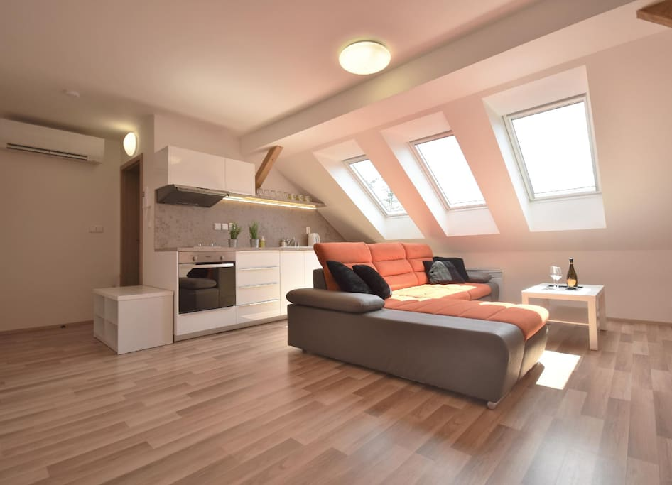 Spacious and sunny room.