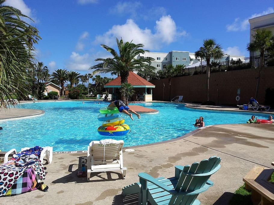 Spend a day relaxing by the large pool