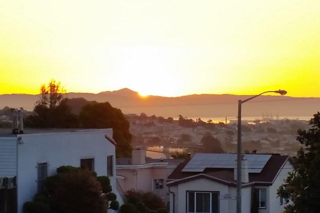 Front porch sunrise