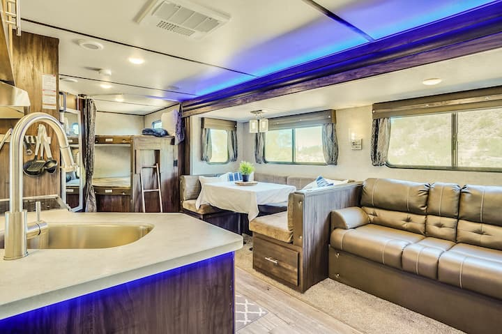 Family in town? Rent our RV to drop at your home!