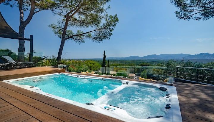 Villa intérieur premium Spa/Piscine chauffés >34°C