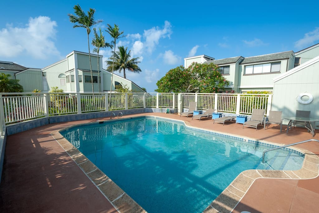 Relax by the pool at the Kamahana complex