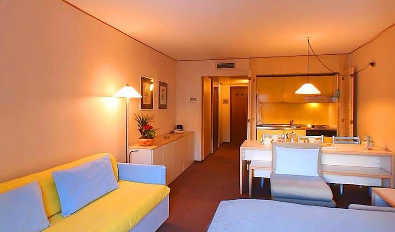 Una camera 4 posti letto nel residence