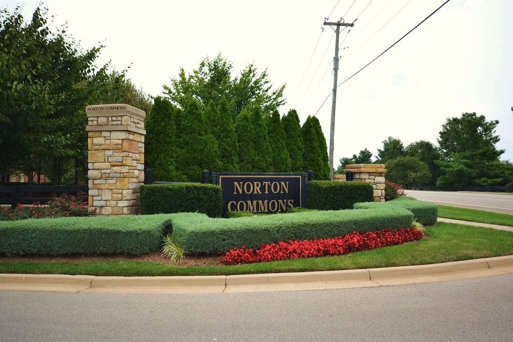 Entrance to the Norton Commons traditional neighborhood development