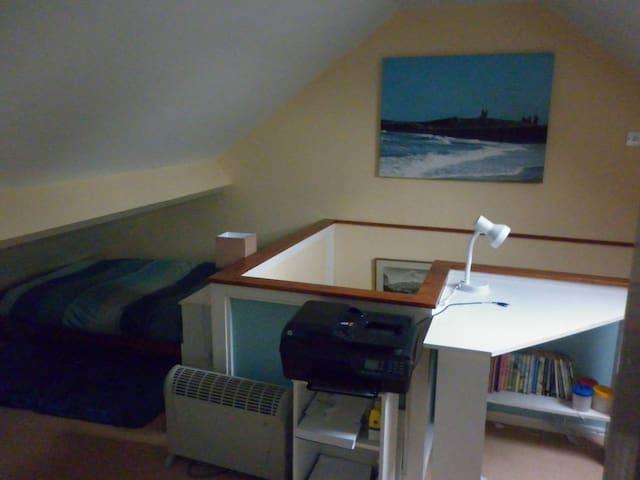 Open plan cosy room in York village home