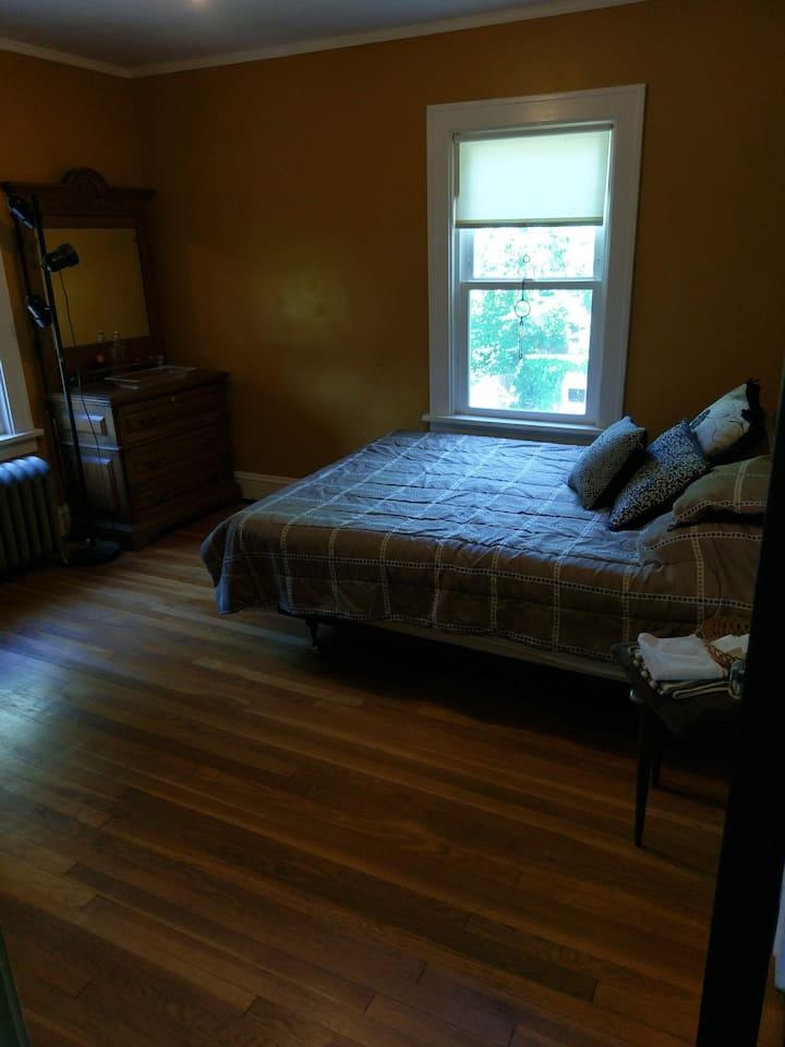 Serene Bedroom in Shaker Square Home