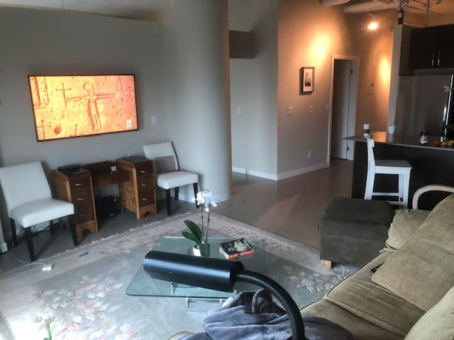 Large Living room with Cable