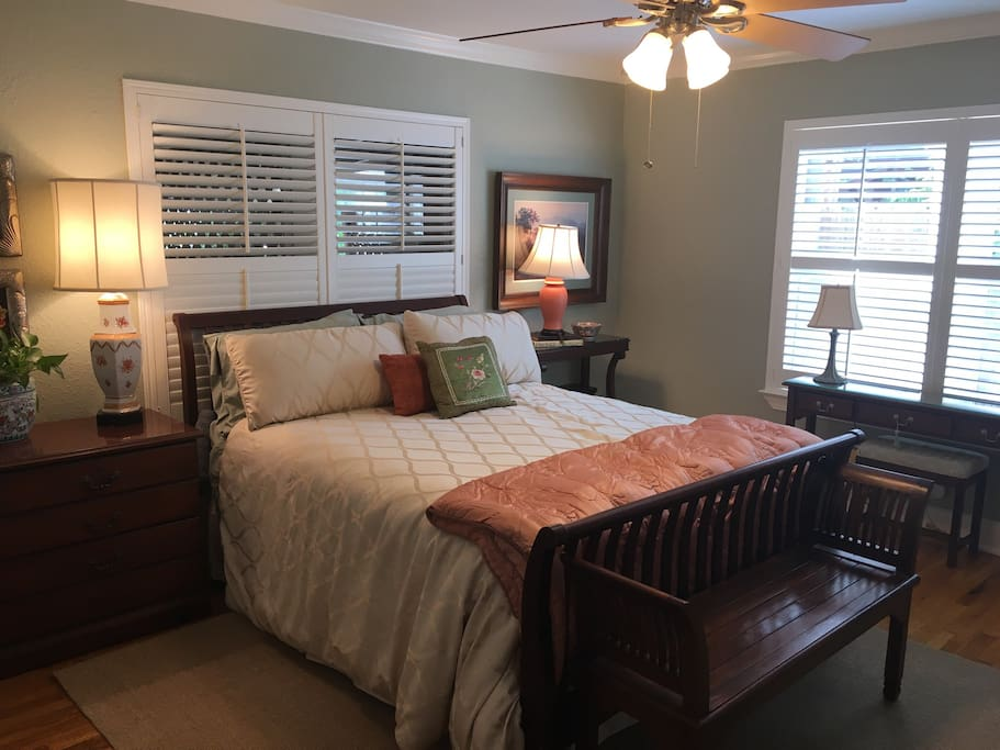Master bedroom with lots of light