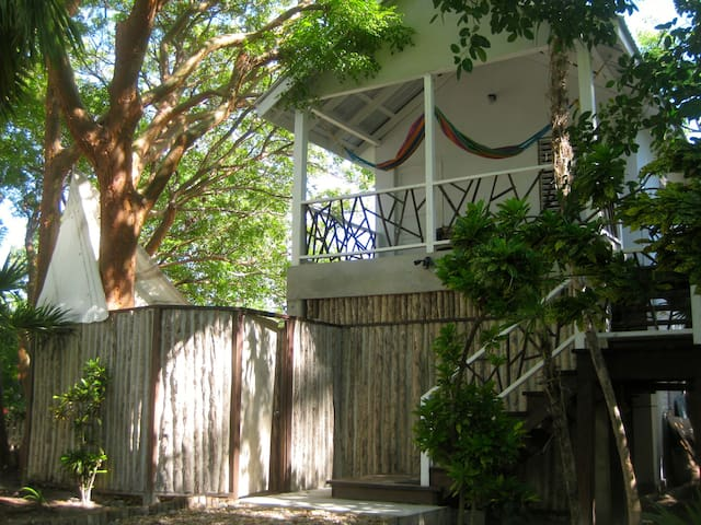 Treehouse close to the beach!  Win!