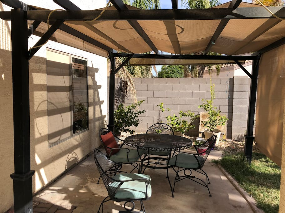Covered Patio in backyard