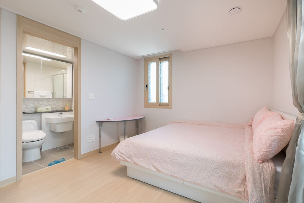 Private bedroom with private bathroom