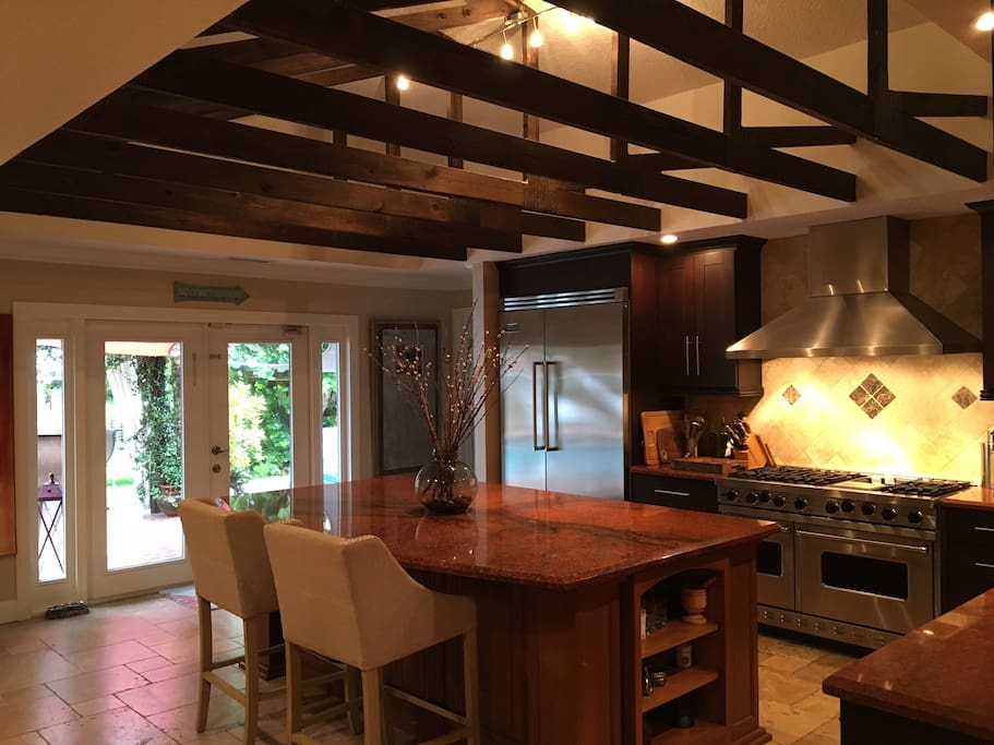 Gourmet Kitchen with Viking Stove and Refidgerator