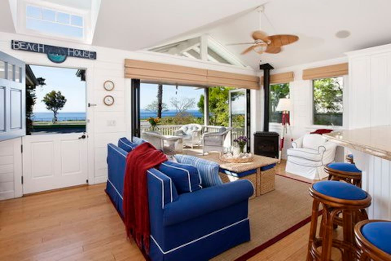 Living room with ocean views.