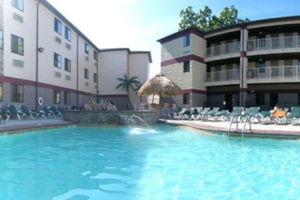 PIB Resort pool and hot tub are across the street!