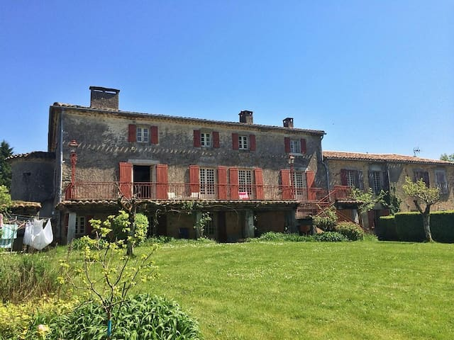 Double room in rustic French escape with pool - Montredon-Labessonnié - Talo