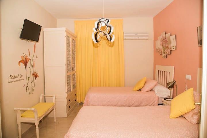 Pension internationale - Chambre Double de Luxe avec Salle de Bains Privative (2 lits) - Tarif Standard