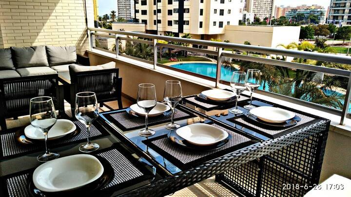 Apartment in San Juan Beach, Indoor pool