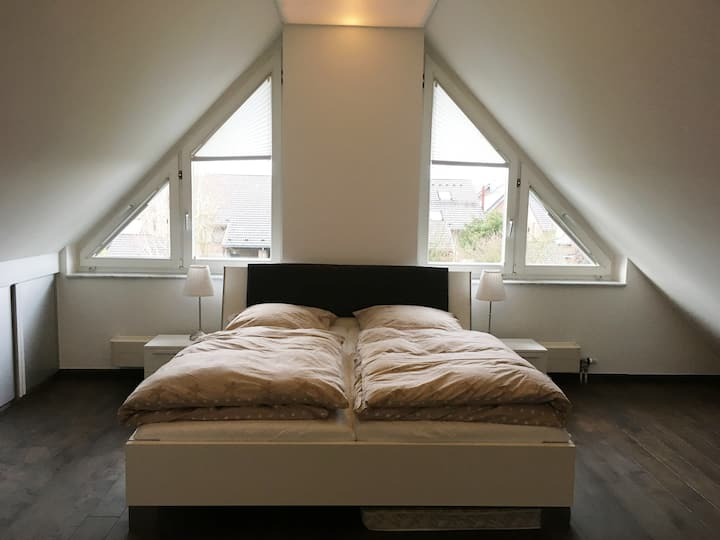 Spacious and quite attic room with own bathroom