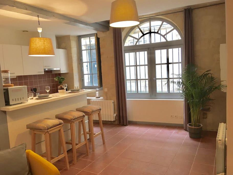 Grand studio au coeur des chartrons appartements louer - Location appartement meuble bordeaux chartrons ...
