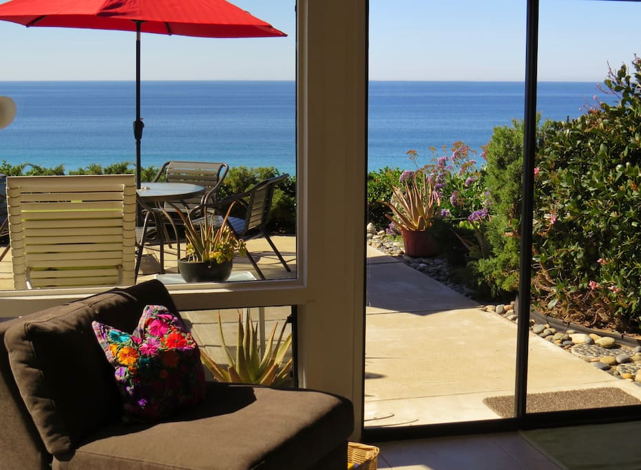 Enjoy the ocean view and cool breezes from the living room