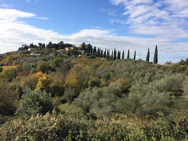 Splendid Tuscan countryside around