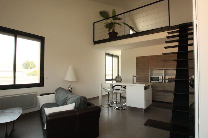 Loft 50m² proche centre historique - Pézenas - Lägenhet