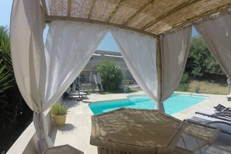 Rez de jardin avec piscine privé