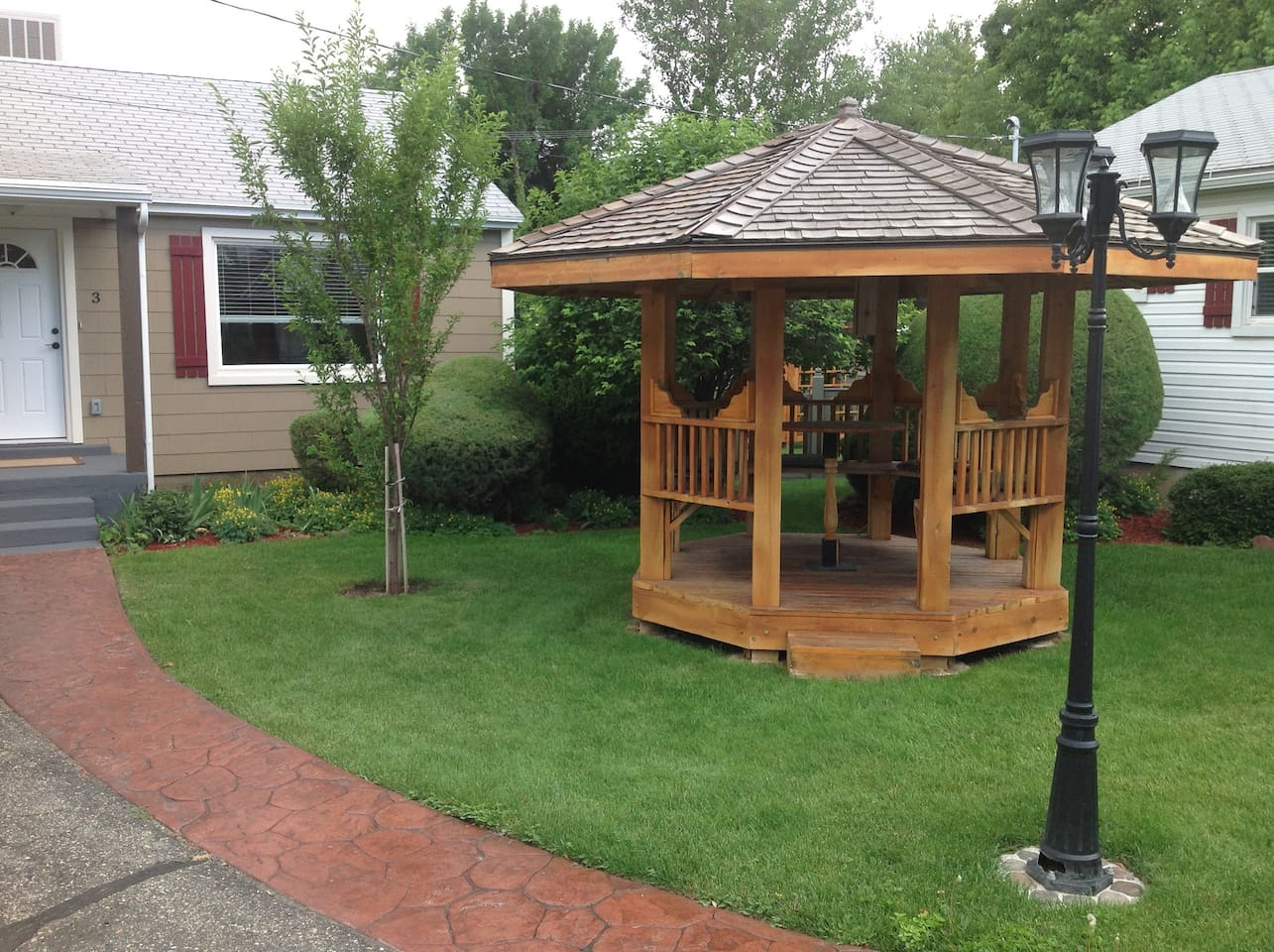 Front entry with Gazebo.
