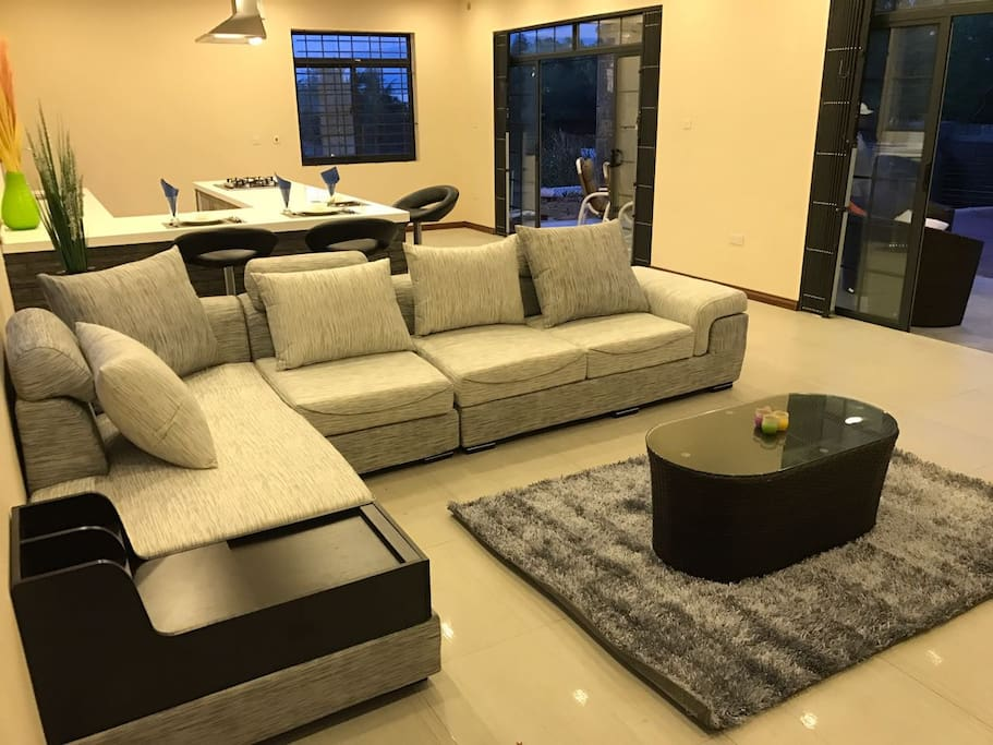 TV room and kitchen area