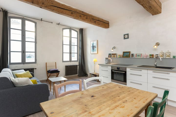 Appartement 2 chambres Intra Muros climatisé wifi