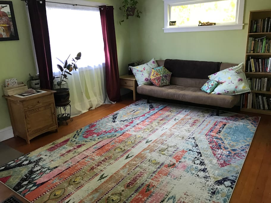 Living room with pull out futon