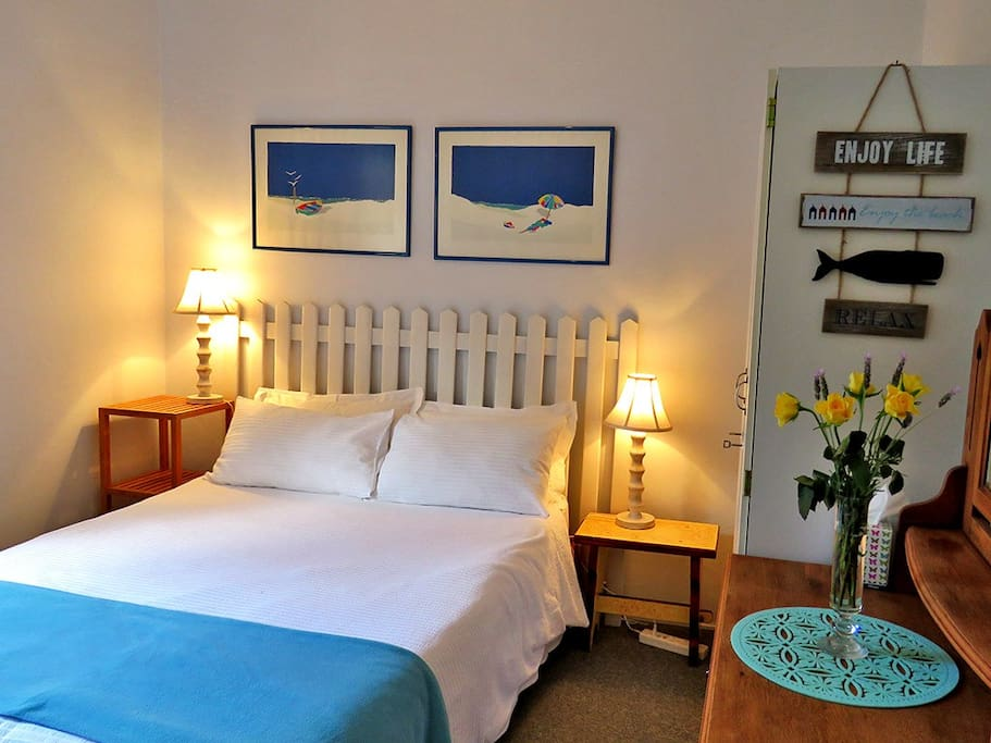 A fresh, clean double-bed room awaits you.