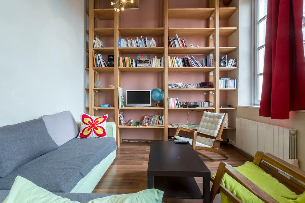 The library is the living room