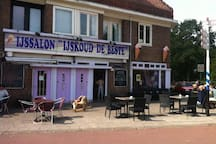 Icecream shop 'Ijskoud de beste' at the Adelaarsweg. 5 minutes walking from the house and near a nice park!