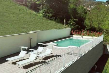 Lake Como, Happy Residence 72, view and pool - Argegno - 公寓