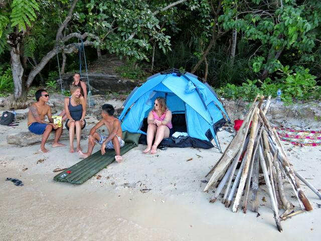 Camping on an island - Karimunjawa