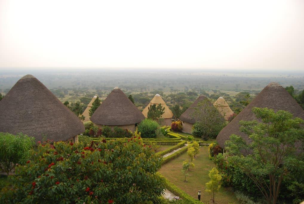cottages based on African art