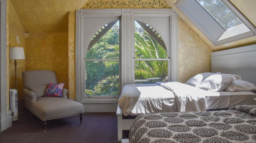 Bedroom #1 overlooks the panhandle allowing for gorgeous green views and sunlight all day long :)