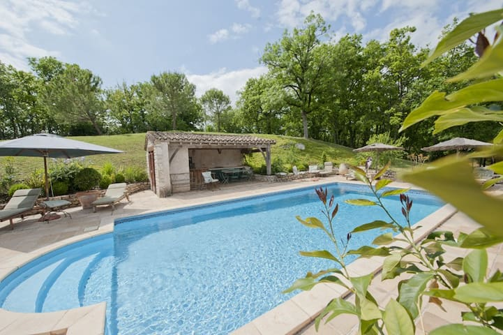 Country home swimming pool Quercy - Castelnau-Montratier - Dom