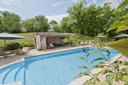 Country home swimming pool Quercy - Castelnau-Montratier - Casa