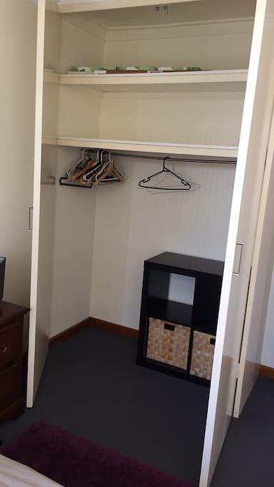 Storage space in room