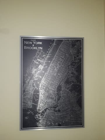 Map of Brooklyn and New York