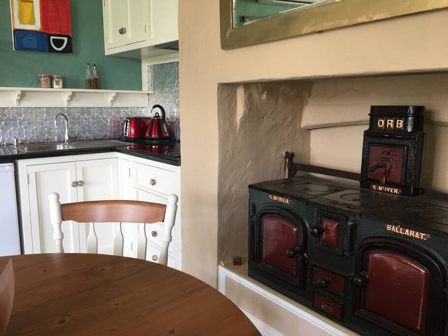 Kitchenette & Old Decorative Stove