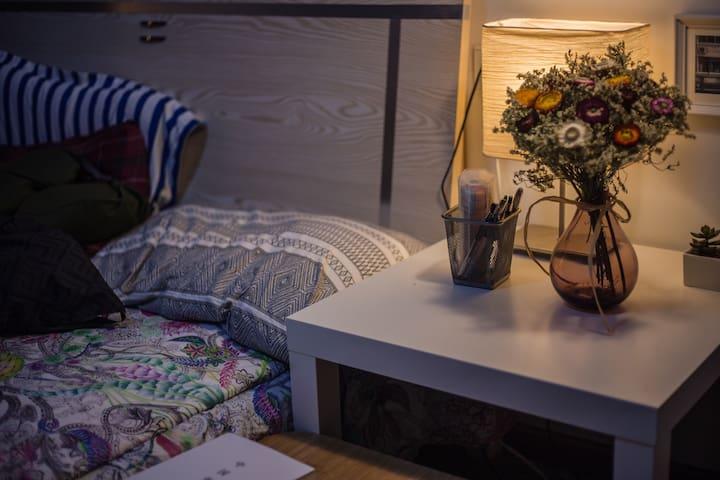 温馨简约的分享房间 Cozy room in Wuhan (Shared Room) - Wuhan - Apartment