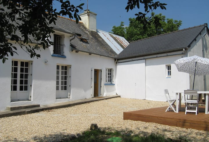 A traditional Breton House set in rural Brittany