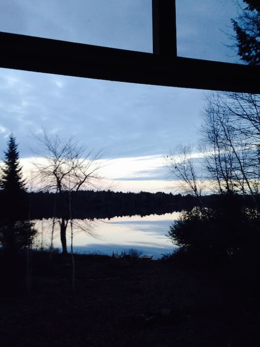 Sunset from screened porch